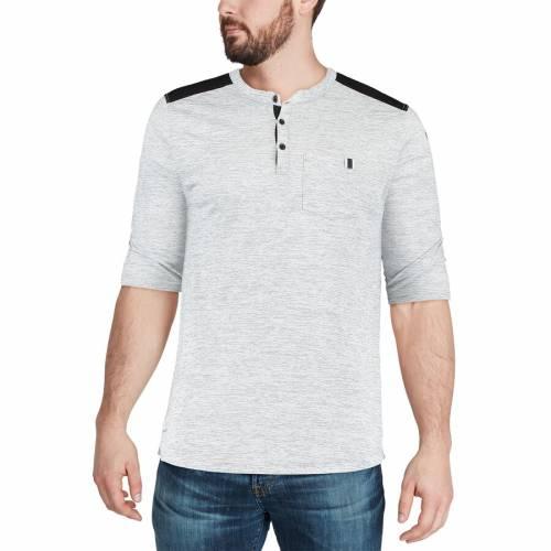 ナイキ NIKE レイダース パフォーマンス ヘンリー Tシャツ メンズファッション トップス カットソー メンズ 【 Las Vegas Raiders Performance Henley 3/4-sleeve T-shirt - Heathered Gray/black 】 Heathered Gray/bl