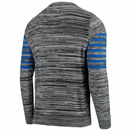 FOCO ペイトリオッツ ニット スリーブ ヘンリー Tシャツ 灰色 グレー グレイ メンズファッション トップス カットソー メンズ 【 New England Patriots Retro Marled Knit Long Sleeve Henley T-shirt - Gray 】