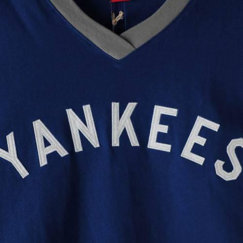 ミッチェル&ネス MITCHELL & NESS ヤンキース ブイネック Tシャツ 紺 ネイビー メンズファッション トップス カットソー メンズ 【 New York Yankees Mitchell And Ness Big And Tall Overtime Win Wordmark V-n