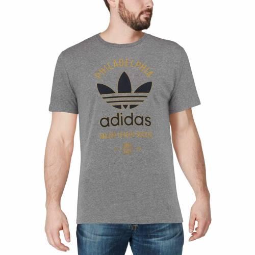 アディダス ADIDAS フィラデルフィア ユニオン クラシック Tシャツ 灰色 グレー グレイ メンズファッション トップス カットソー メンズ 【 Philadelphia Union Classic Label Tri-blend T-shirt - Gray 】