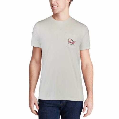 VINEYARD VINES マイアミ Tシャツ 白 ホワイト 【 WHITE VINEYARD VINES MIAMI HURRICANES POCKET TSHIRT 】 メンズファッション トップス Tシャツ カットソー