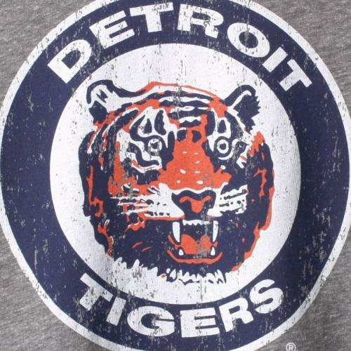MAJESTIC THREADS デトロイト タイガース クーパーズタウン コレクション スリーブ Tシャツ 灰色 グレー グレイ メンズファッション トップス カットソー メンズ 【 Detroit Tigers Cooperstown Collec