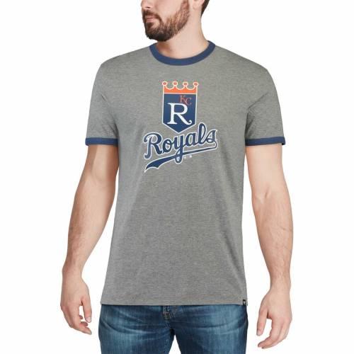 '47 カンザス シティ ロイヤルズ Tシャツ 【 KANSAS CITY ROYALS ARCHIVE RINGER TSHIRT GRAY 】 メンズファッション トップス カットソー 送料無料