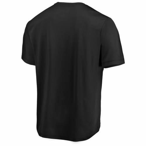 マジェスティック MAJESTIC マジェスティック カロライナ パンサーズ ロゴ クール Tシャツ 黒 ブラック 【 BLACK MAJESTIC CAROLINA PANTHERS SHOWTIME LOGO COOL BASE TSHIRT 】 メンズファッション トップス