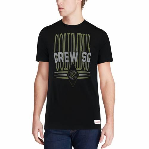 ミッチェル&ネス MITCHELL & NESS Tシャツ 黒 ブラック メンズファッション トップス カットソー メンズ 【 Columbus Crew Sc Mitchell And Ness Tailored T-shirt - Black 】 Black