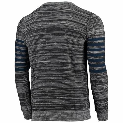 FOCO ジャイアンツ ニット スリーブ ヘンリー Tシャツ 灰色 グレー グレイ メンズファッション トップス カットソー メンズ 【 New York Giants Retro Marled Knit Long Sleeve Henley T-shirt - Gray 】 Gray