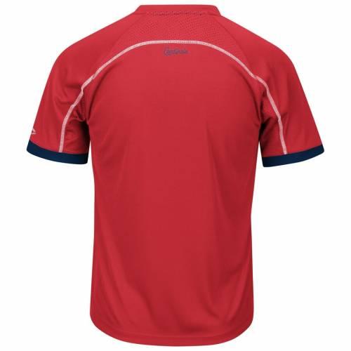 マジェスティック MAJESTIC カーディナルス ブイネック Tシャツ St. メンズファッション トップス カットソー メンズ 【 St. Louis Cardinals Big And Tall Emergence V-neck T-shirt - Red/navy 】 Red/navy