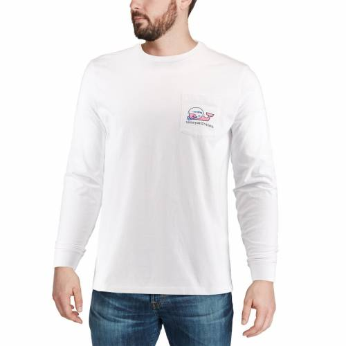 VINEYARD VINES エア ファルコンズ スリーブ Tシャツ 白 ホワイト メンズファッション トップス カットソー メンズ 【 Air Force Falcons Pocket Long Sleeve T-shirt - White 】 White