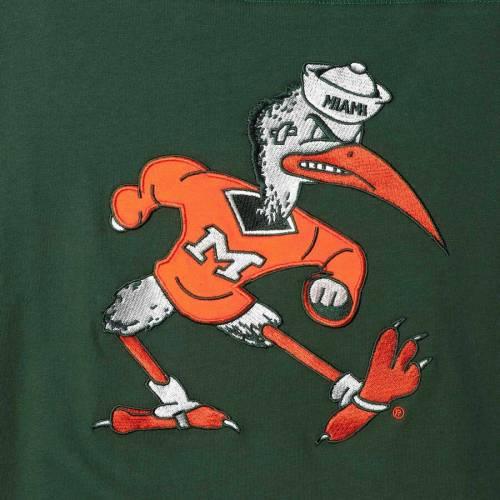 スターター STARTER マイアミ フィールド ジャージ スリーブ Tシャツ メンズファッション トップス カットソー メンズ 【 Miami Hurricanes Field Jersey Long Sleeve T-shirt - Green/orange 】 Green/orange