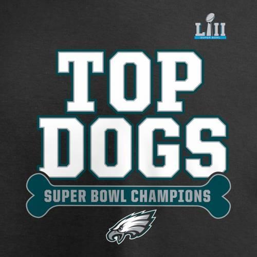 NFL PRO LINE BY FANATICS BRANDED フィラデルフィア イーグルス Tシャツ 黒 ブラック メンズファッション トップス カットソー メンズ 【 Philadelphia Eagles Super Bowl Lii Champions Top Dog T-shirt - Black 】 Bl