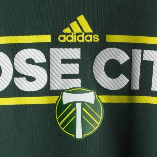 アディダス ADIDAS ポートランド 子供用 シティ Tシャツ 緑 グリーン キッズ ベビー マタニティ トップス ジュニア 【 Portland Timbers Youth Dassler City Nickname Climalite T-shirt - Green 】 Green