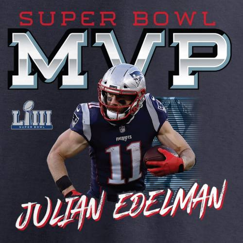NFL PRO LINE BY FANATICS BRANDED プロ ペイトリオッツ Tシャツ 紺 ネイビー 【 NFL NAVY PRO LINE BY FANATICS BRANDED JULIAN EDELMAN NEW ENGLAND PATRIOTS SUPER BOWL LIII CHAMPIONS FOURTH QUARTER MVP TSHIRT 】 メンズファッショ
