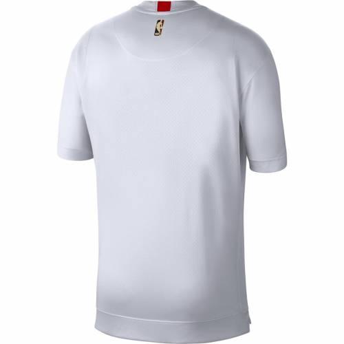 ナイキ NIKE ポートランド ウォーム シューティング Tシャツ 白 ホワイト メンズファッション トップス カットソー メンズ 【 Portland Trail Blazers Hardwood Classics Lightweight Warm Up Shooting T-shirt -