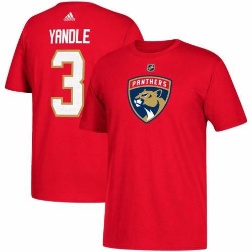 アディダス ADIDAS フロリダ パンサーズ Tシャツ 赤 レッド メンズファッション トップス カットソー メンズ 【 Keith Yandle Florida Panthers Name And Number T-shirt - Red 】 Red