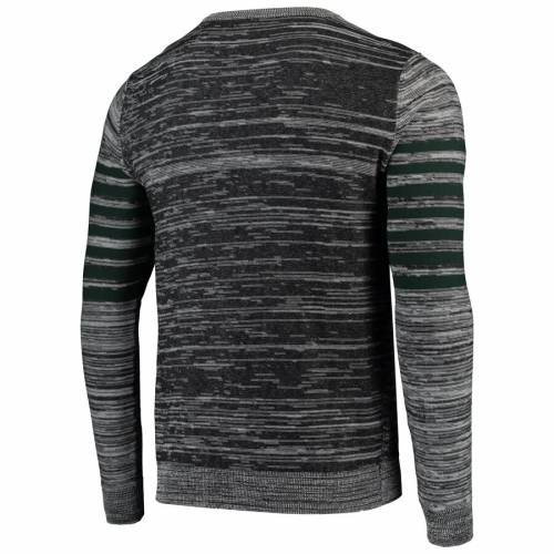 FOCO 緑 グリーン パッカーズ ニット ヘンリー スリーブ Tシャツ 灰色 グレー グレイ メンズファッション トップス カットソー メンズ 【 Green Bay Packers Marled Knit Henley Long Sleeve T-shirt - Gray