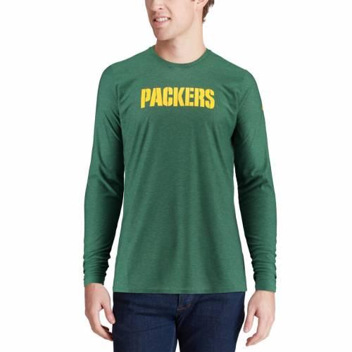 ナイキ NIKE 緑 グリーン パッカーズ サイドライン スリーブ Tシャツ メンズファッション トップス カットソー メンズ 【 Green Bay Packers Sideline Player Long Sleeve T-shirt - Green 】 Green