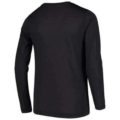 ナイキ NIKE スパーズ 子供用 プラクティス ロゴ レジェンド スリーブ パフォーマンス Tシャツ 黒 ブラック キッズ ベビー マタニティ トップス ジュニア 【 San Antonio Spurs Youth Practice Logo L