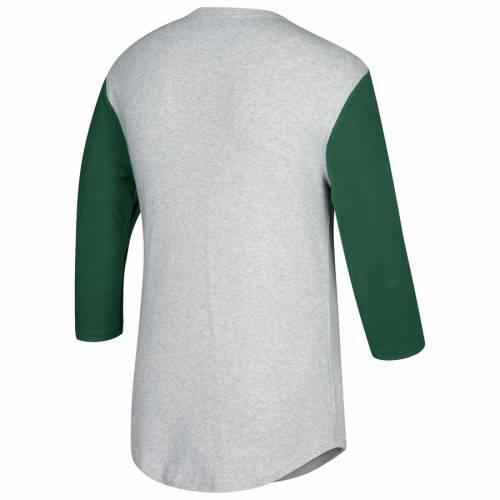 ミッチェル&ネス MITCHELL & NESS ポートランド Tシャツ 灰色 グレー グレイ メンズファッション トップス カットソー メンズ 【 Portland Timbers Mitchell And Ness Scoring Position 3/4-sleeve T-shirt - Hea