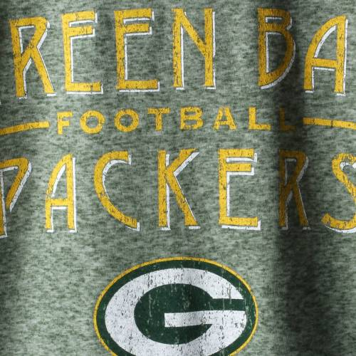 MAJESTIC THREADS 緑 グリーン パッカーズ スリーブ Tシャツ メンズファッション トップス カットソー メンズ 【 Green Bay Packers Conquest Double Face Thermal Long Sleeve T-shirt - Green 】 Green
