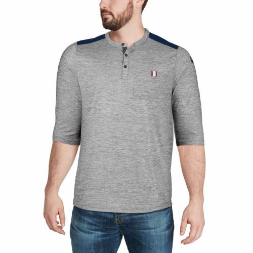 ナイキ NIKE ヒューストン テキサンズ パフォーマンス ヘンリー Tシャツ メンズファッション トップス カットソー メンズ 【 Houston Texans Performance Henley 3/4-sleeve T-shirt - Heathered Gray/navy 】 He