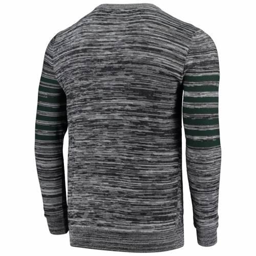 FOCO 緑 グリーン パッカーズ ニット スリーブ ヘンリー Tシャツ 灰色 グレー グレイ メンズファッション トップス カットソー メンズ 【 Green Bay Packers Retro Marled Knit Long Sleeve Henley T-shirt - G