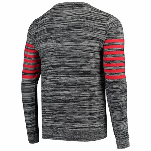 FOCO クリーブランド ブラウンズ ニット ヘンリー スリーブ Tシャツ 灰色 グレー グレイ メンズファッション トップス カットソー メンズ 【 Cleveland Browns Marled Knit Henley Long Sleeve T-shirt - Gra