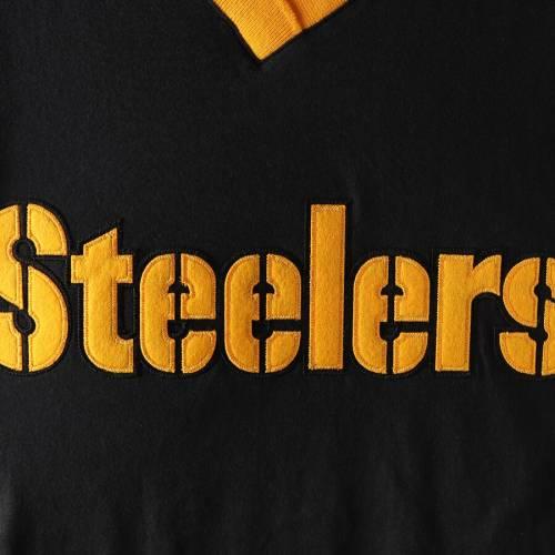 ミッチェル&ネス MITCHELL & NESS ピッツバーグ スティーラーズ ブイネック Tシャツ 黒 ブラック メンズファッション トップス カットソー メンズ 【 Pittsburgh Steelers Mitchell And Ness Overtime W