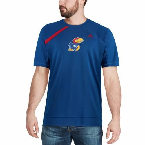 アディダス ADIDAS カンザス Tシャツ メンズファッション トップス カットソー メンズ 【 Kansas Jayhawks On-court Shooter T-shirt - Royal 】 Royal