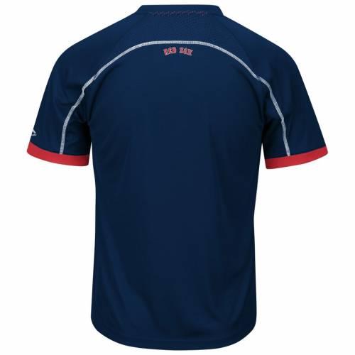 マジェスティック MAJESTIC ボストン 赤 レッド ブイネック Tシャツ メンズファッション トップス カットソー メンズ 【 Boston Red Sox Big And Tall Emergence V-neck T-shirt - Navy/red 】 Navy/red