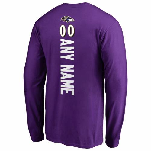 NFL PRO LINE BY FANATICS BRANDED ボルティモア レイブンズ スリーブ Tシャツ 紫 パープル メンズファッション トップス カットソー メンズ 【 [customized Item] Baltimore Ravens Personalized Playmaker Long Sleev