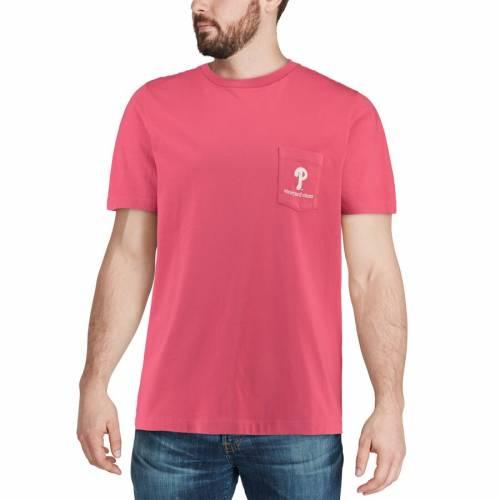 VINEYARD VINES フィラデルフィア フィリーズ ロゴ Tシャツ 赤 レッド メンズファッション トップス カットソー メンズ 【 Philadelphia Phillies Circle Logo T-shirt - Red 】 Red