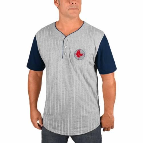マジェスティック MAJESTIC ボストン 赤 レッド Tシャツ 灰色 グレー グレイ メンズファッション トップス カットソー メンズ 【 Ted Williams Boston Red Sox Big And Tall From The Stretch Pinstripe Player T-s