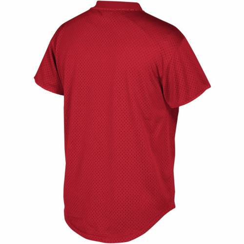 ミッチェル&ネス MITCHELL & NESS ペイトリオッツ ブイネック Tシャツ 赤 レッド メンズファッション トップス カットソー メンズ 【 New England Patriots Mitchell And Ness Winning Shot Mesh V-neck T-shir