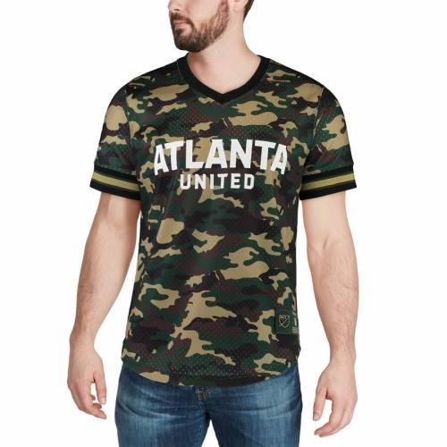 ミッチェル&ネス MITCHELL & NESS アトランタ ブイネック Tシャツ メンズファッション トップス カットソー メンズ 【 Atlanta United Fc Mitchell And Ness Camo Mesh V-neck T-shirt - Camo 】 Camo