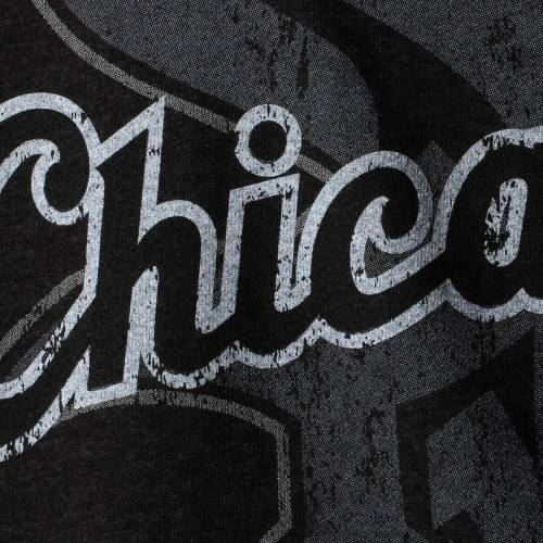 MAJESTIC THREADS マジェスティック シカゴ 白 ホワイト Tシャツ 黒 ブラック 【 WHITE BLACK MAJESTIC THREADS CHICAGO SOX VISIONARY TRIBLEND TSHIRT 】 メンズファッション トップス Tシャツ カットソー