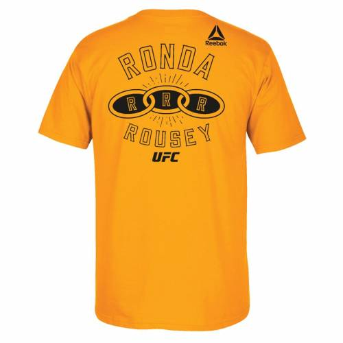 スポーツブランド カジュアル ファッション トップス 半袖 リーボック REEBOK タイム Tシャツ 金色 ゴールド カットソー TIME RONDA 公式サイト UFC GOLD ROUSEY TSHIRT GO メンズファッション オンラインショッピング 207