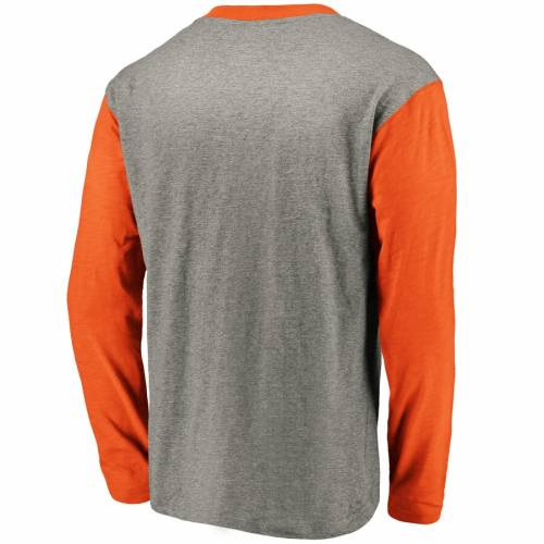 NFL PRO LINE BY FANATICS BRANDED バッカニアーズ ヘンリー スリーブ Tシャツ メンズファッション トップス カットソー メンズ 【 Tampa Bay Buccaneers Big And Tall True Classics Henley Long Sleeve T-shirt - Heathere
