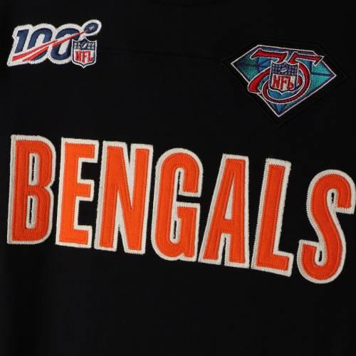 ミッチェル&ネス MITCHELL & NESS シンシナティ ベンガルズ チーム スリーブ Tシャツ 黒 ブラック メンズファッション トップス カットソー メンズ 【 Cincinnati Bengals Mitchell And Ness Nfl 100 Te