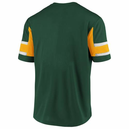NFL PRO LINE BY FANATICS BRANDED 緑 グリーン パッカーズ ブイネック Tシャツ メンズファッション トップス カットソー メンズ 【 Green Bay Packers Iconic Hashmark V-neck T-shirt - Green 】 Green