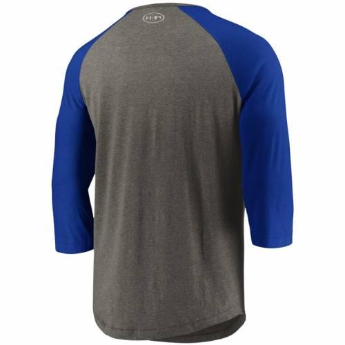 アンダーアーマー UNDER ARMOUR カンザス シティ ロイヤルズ ラグラン パフォーマンス Tシャツ メンズファッション トップス カットソー メンズ 【 Kansas City Royals Tri-blend Raglan 3/4-sleeve Perform
