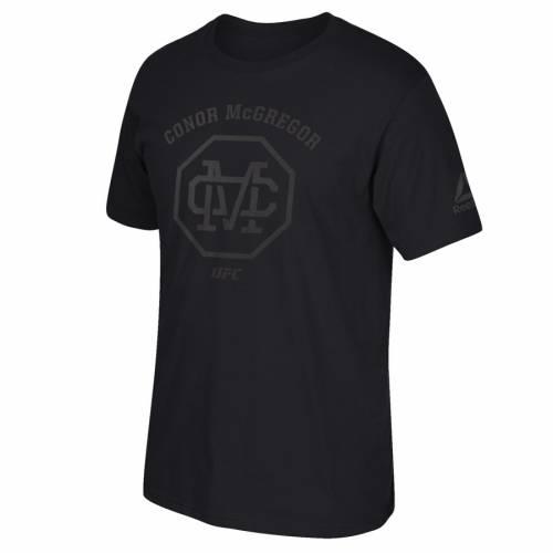リーボック REEBOK リーボック ステルス シリーズ Tシャツ 黒 ブラック 【 REEBOK BLACK CONOR MCGREGOR UFC MONOGRAM STEALTH SERIES TSHIRT 】 メンズファッション トップス Tシャツ カットソー