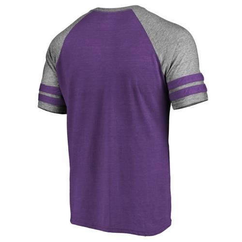 NFL PRO LINE BY FANATICS BRANDED ミネソタ バイキングス ストライク ラグラン Tシャツ 紫 パープル メンズファッション トップス カットソー メンズ 【 Minnesota Vikings Slant Strike Tri-blend Raglan T-shirt