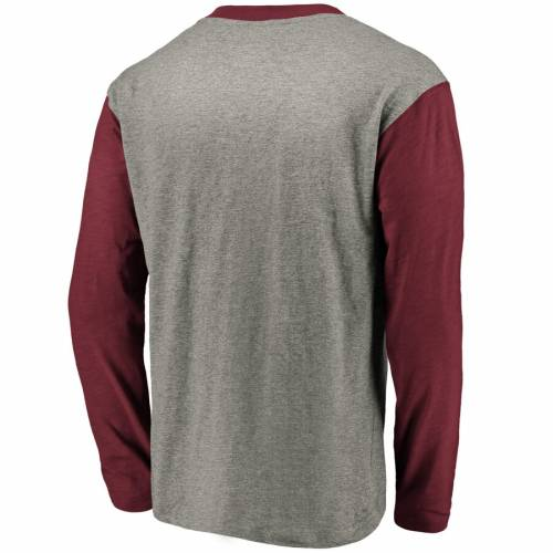 NFL PRO LINE BY FANATICS BRANDED アリゾナ カーディナルス ヘンリー スリーブ Tシャツ メンズファッション トップス カットソー メンズ 【 Arizona Cardinals Big And Tall True Classics Henley Long Sleeve T-shirt