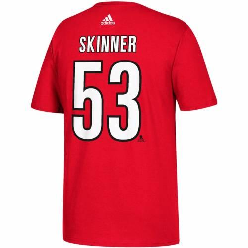 アディダス ADIDAS カロライナ Tシャツ 赤 レッド メンズファッション トップス カットソー メンズ 【 Jeff Skinner Carolina Hurricanes Name And Number T-shirt - Red 】 Red