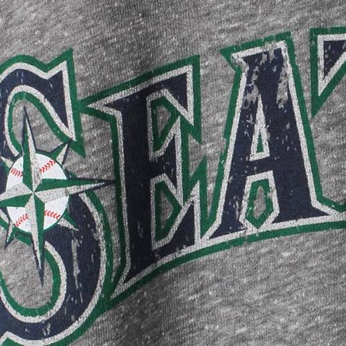 MAJESTIC THREADS シアトル マリナーズ プレミアム Tシャツ 灰色 グレー グレイ メンズファッション トップス カットソー メンズ 【 Robinson Cano Seattle Mariners Premium Tri-blend Name And Number T-shirt - Gr