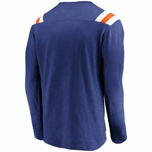 NFL PRO LINE BY FANATICS BRANDED デンバー ブロンコス スリーブ Tシャツ メンズファッション トップス カットソー メンズ 【 Denver Broncos True Classics Long Sleeve T-shirt - Royal 】 Royal