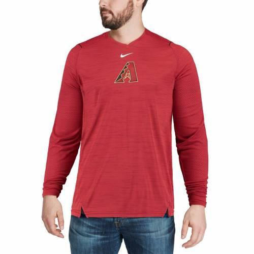 ナイキ NIKE アリゾナ ダイヤモンドバックス スリーブ パフォーマンス Tシャツ 赤 レッド メンズファッション トップス カットソー メンズ 【 Arizona Diamondbacks Ac Breathe Long Sleeve Performance T-