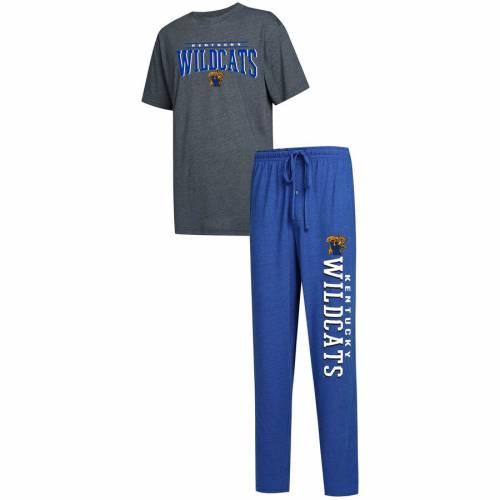 CONCEPTS SPORT ケンタッキー Tシャツ メンズファッション トップス カットソー メンズ 【 Kentucky Wildcats Big And Tall Topic T-shirt And Pants Sleep Set - Royal/charcoal 】 Royal/charcoal