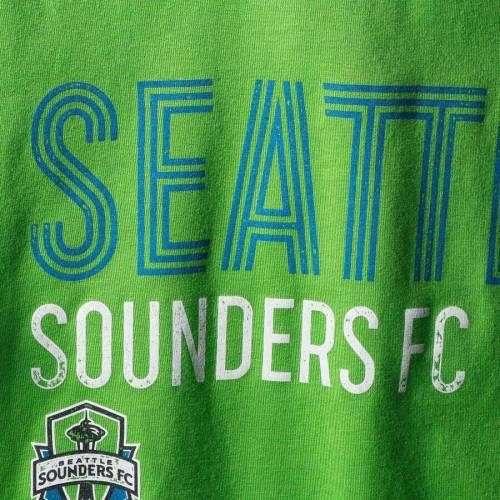 アディダス ADIDAS シアトル 子供用 Tシャツ 緑 グリーン キッズ ベビー マタニティ トップス ジュニア 【 Seattle Sounders Fc Youth Triline Locale T-shirt - Rave Green 】 Rave Green