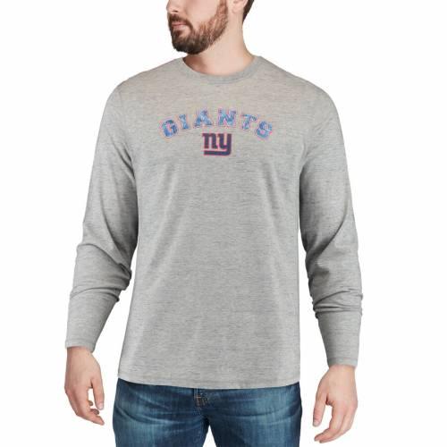 TOMMY BAHAMA ジャイアンツ ボックス スリーブ Tシャツ 灰色 グレー グレイ メンズファッション トップス カットソー メンズ 【 New York Giants Fronds In The Box Long Sleeve T-shirt - Heathered Gray 】 Heathe
